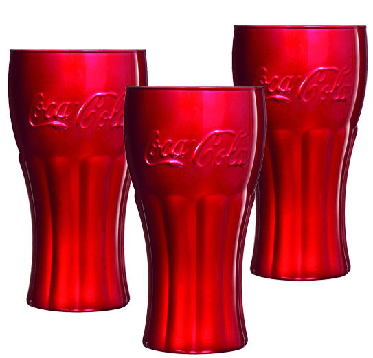 Luminarc Coca Cola čaše Mirror red 3 komada H5665 115084