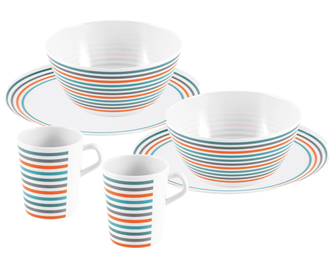 Set posuđa za dve osobe Easy Camp Melamine 680040