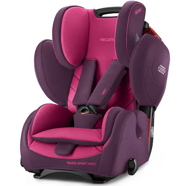Autosedište za decu Recaro Young Sport Hero Power Berry 9 - 36 kg