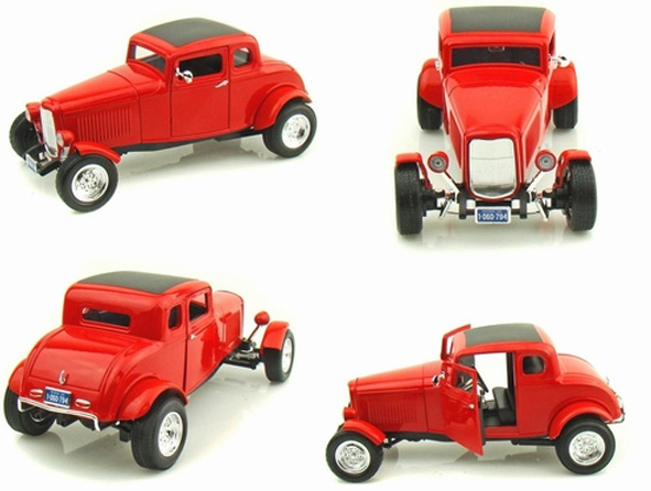 Autić 1:18 MotorMax 1932 Ford Five Window Coupe 225459-2