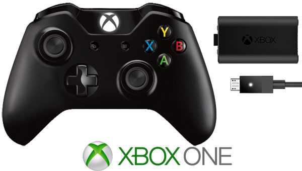 XBOX One kontroler Black + Play & Charge Kit 019268