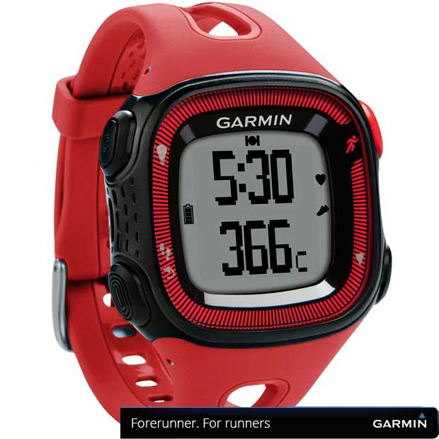 Garmin pametni GPS sat Forerunner 15HRM Red/Black Large 010-01241-51