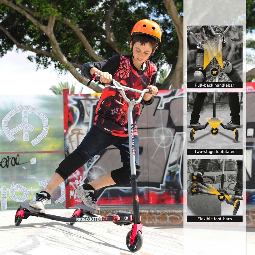 Smart Trike Ski skuter - trotinet do 100kg  Z7 Red