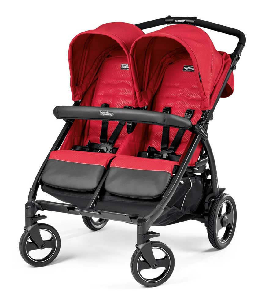Peg Perego Kolica za blizance Book For Two Mod Red