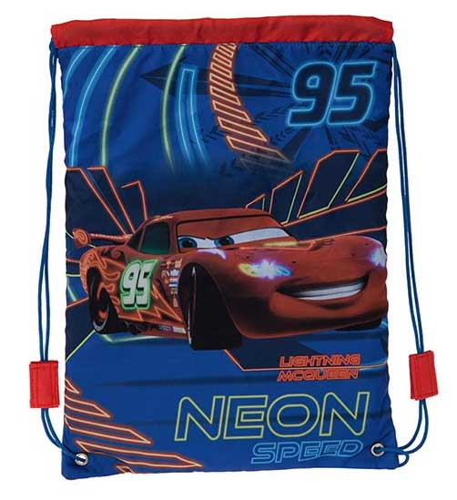 Disney Cars Torba za fizičko Neon Speed