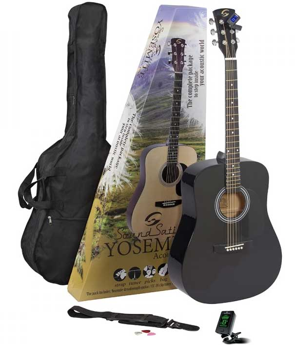 Country gitara sa torbom i štimerom SoundSation Yosemite-GP-BK Pack