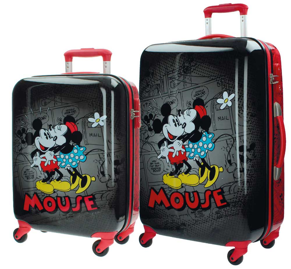 Disney Putni koferi - set - Mouse Retro Black