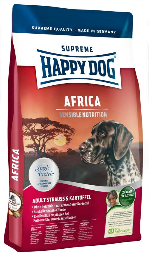 Hrana za pse Happy Dog Supreme Sensible Africa 12,5kg + 2kg GRATIS