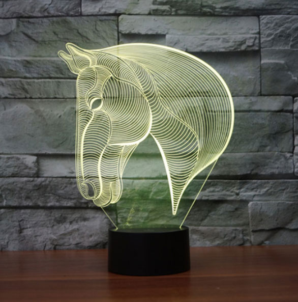 3D LED Lampa Illusions by Black Cut Horse warm white
