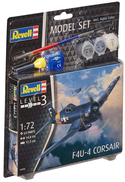 Revell maketa aviona sa priborom Model Set F4U-4 Corsair RV63955/5006