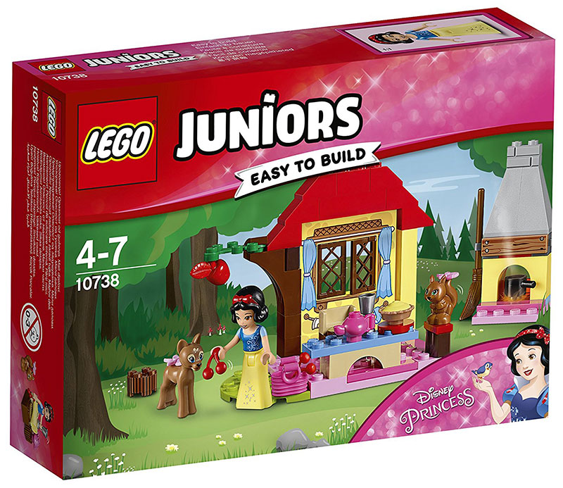 LEGO Juniors kocke Disney Princess - Snow Whites Forest Cottage - Snežanina koliba u šumi 67 delova 10738