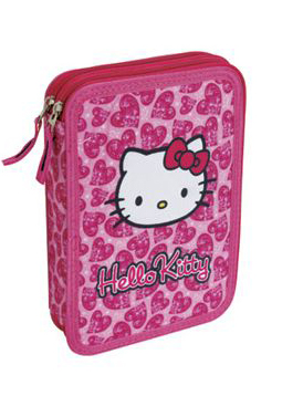 TARGET Double Pencile Case - Pernica puna HELLO KITTY Hearts 16716