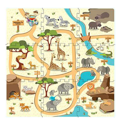 Podne puzzle Safari 9 komada 320x320mm