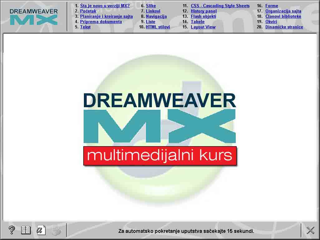 Multimedijalni kurs - Dreamweaver MX