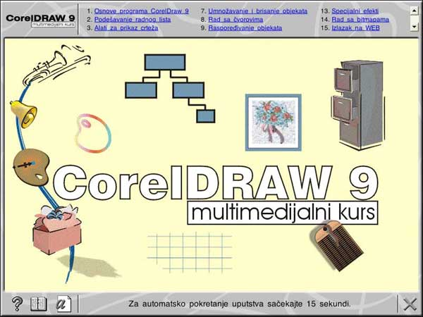 Multimedijalni kurs - Corel Draw 9