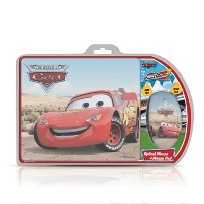 Cirkuit Planet Cars Optical Mouse and Mouse Pad DSY-TP1002