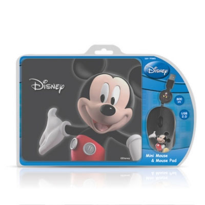 Cirkuit Planet Mickey 3D Optical Mouse and Mouse Pad DSY-TP3001